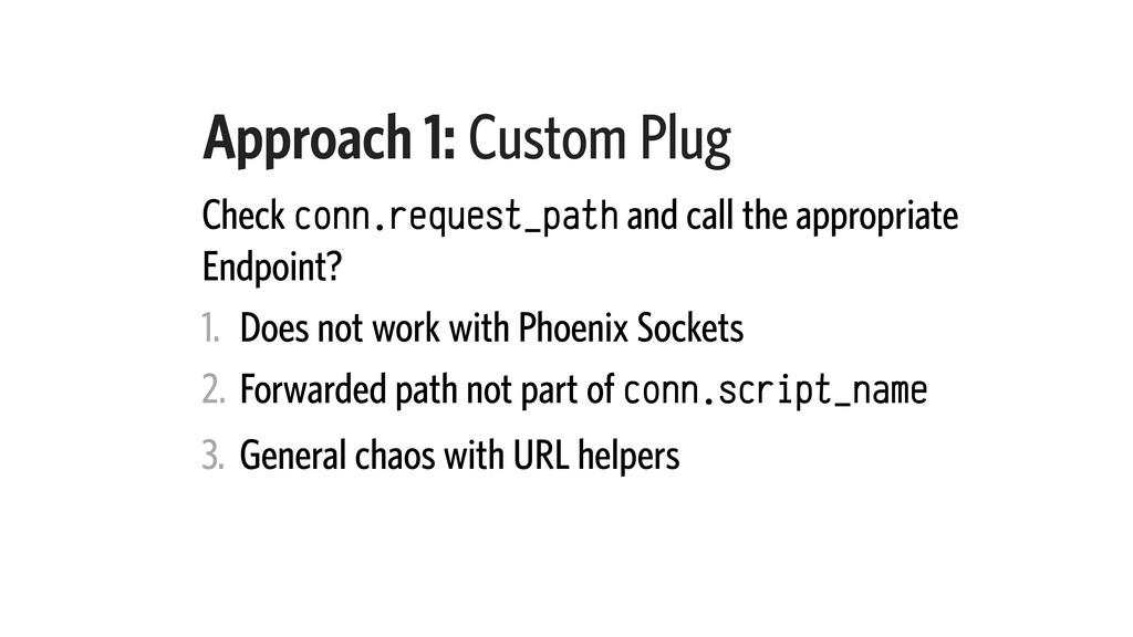 Approach 1: Custom Plug Check conn.request_path...