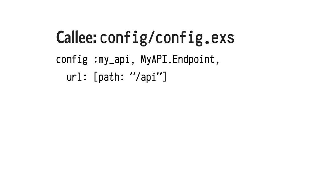 Callee: config/config.exs config :my_api, MyAPI...