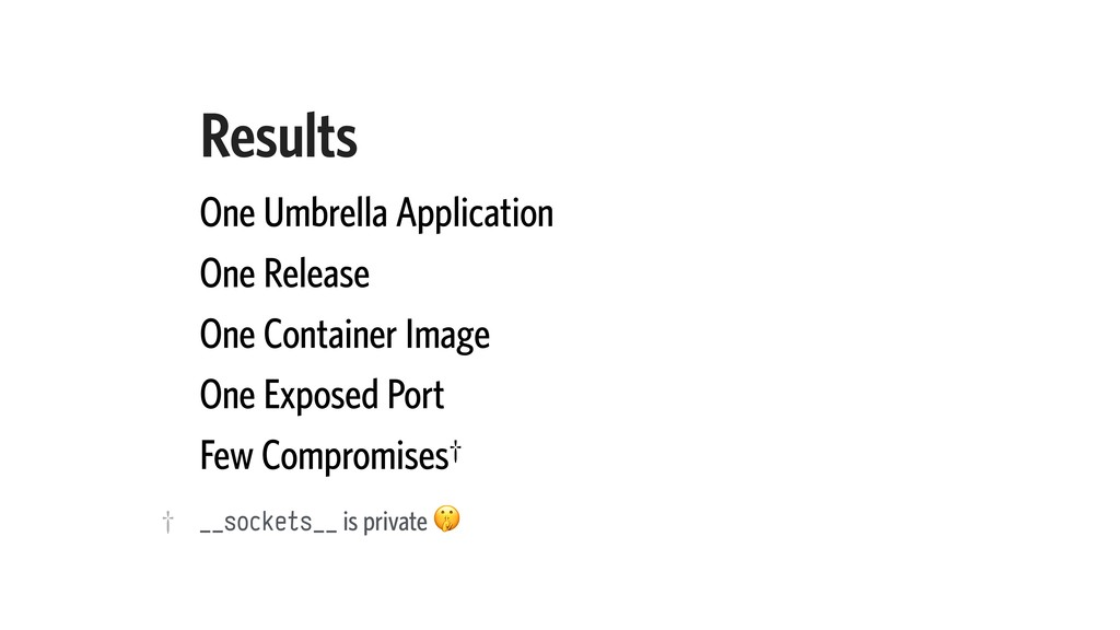Results One Umbrella Application One Release On...