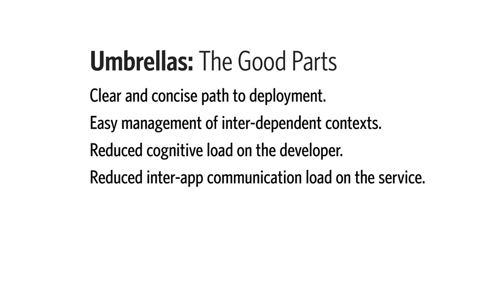 Umbrellas: The Good Parts Clear and concise pat...