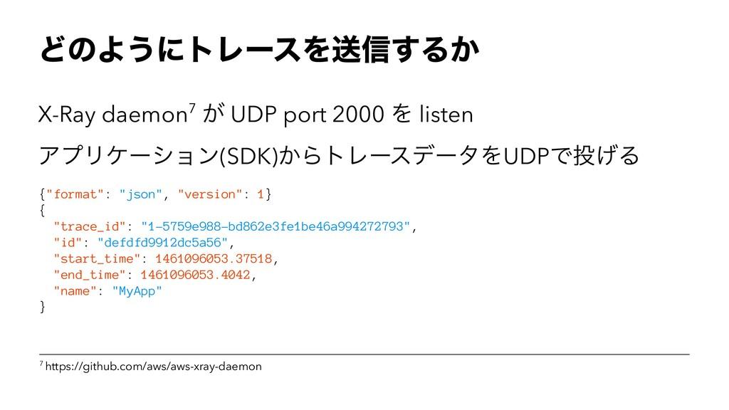 ͲͷΑ͏ʹτϨʔεΛૹ৴͢Δ͔ X-Ray daemon7 ͕ UDP port 2000 Λ...