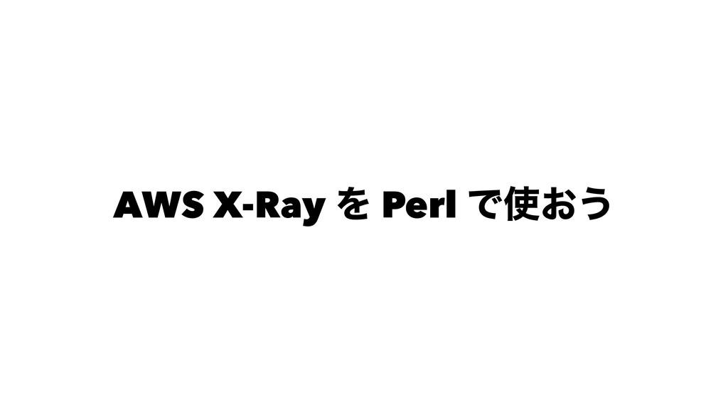AWS X-Ray Λ Perl Ͱ͓͏