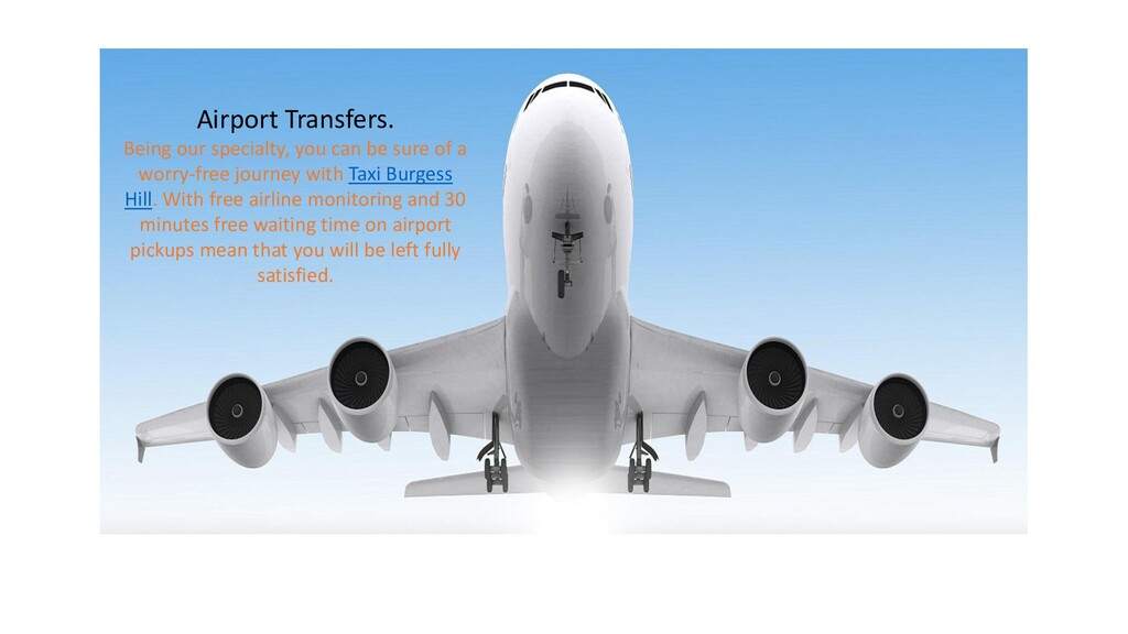 Airport Transfers. Being our specialty, you can...