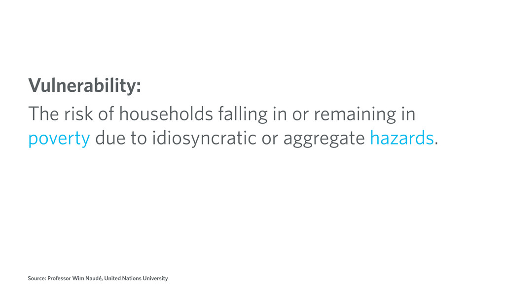 Vulnerability: The risk of households falling i...