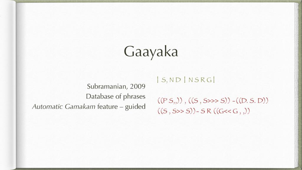 Gaayaka   S, N D   N S R G   ((P S,,)) , ((S , ...
