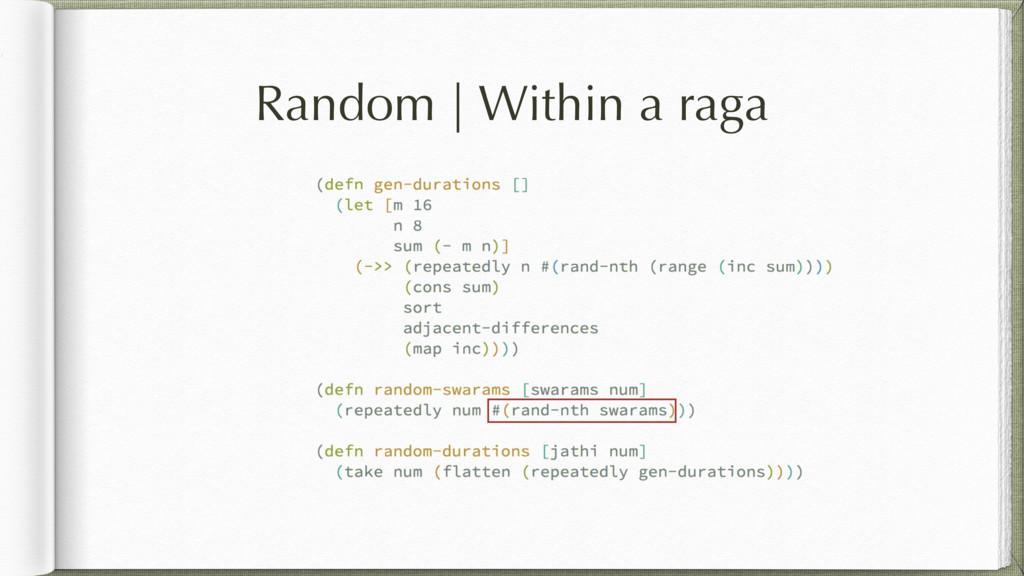 Random   Within a raga