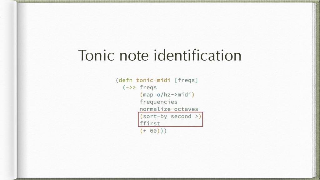 Tonic note identification