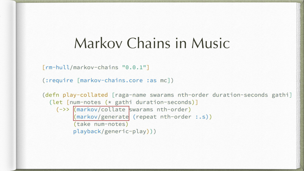Markov Chains in Music