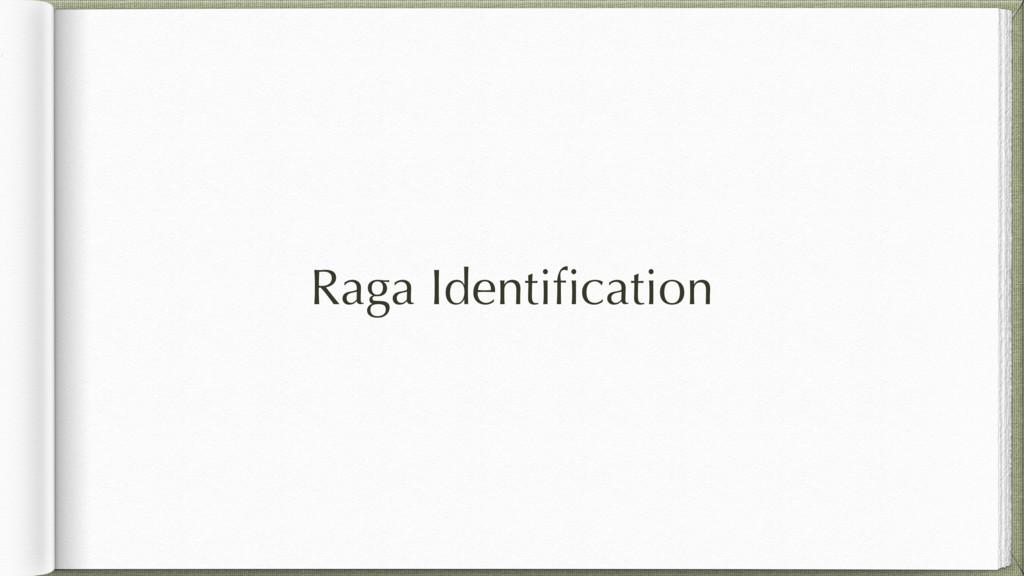 Raga Identification
