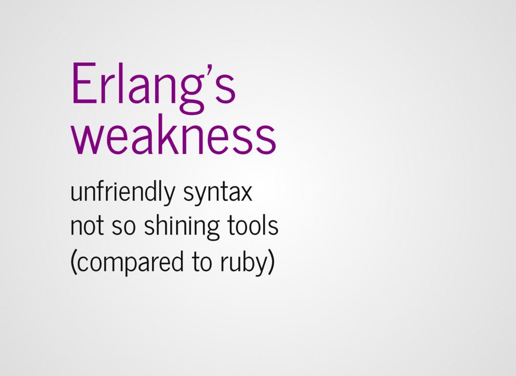 Erlang's weakness unfriendly syntax not so shin...
