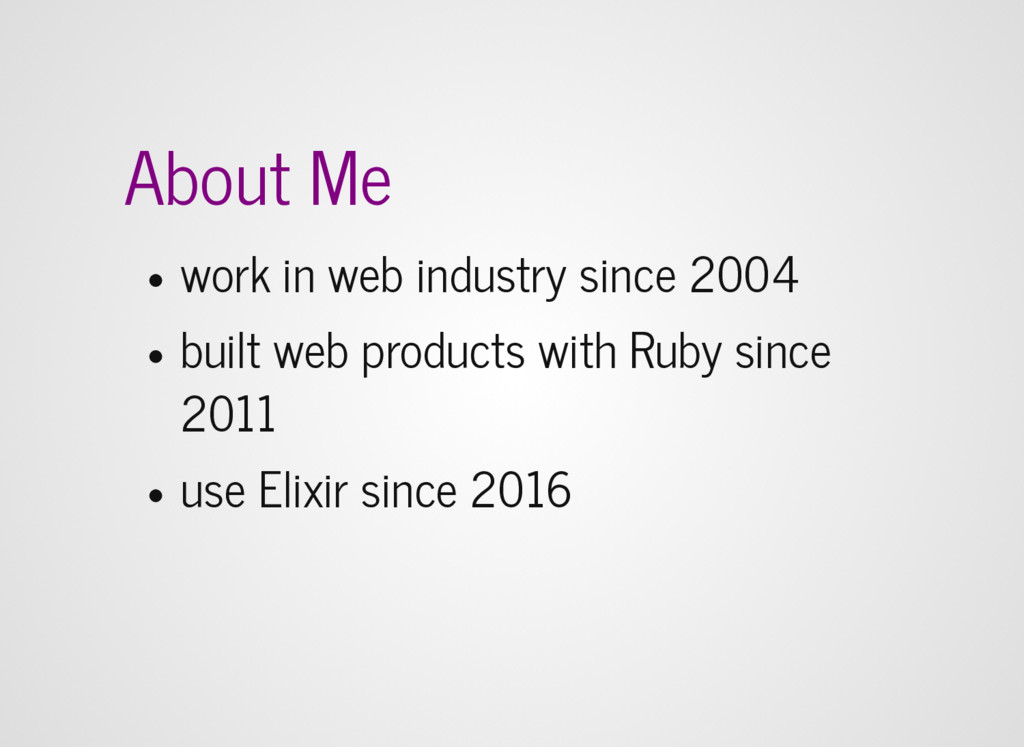 About Me work in web industry since 2004 built ...