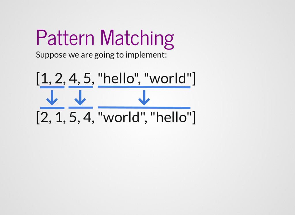Pattern Matching Suppose we are going to implem...