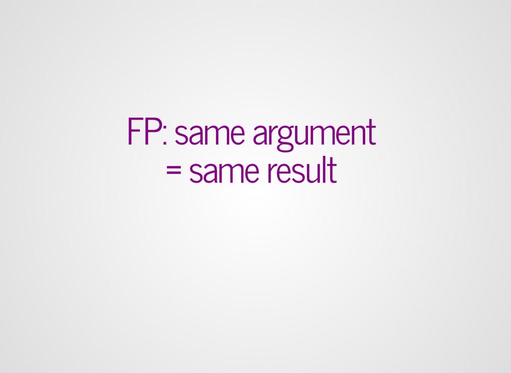 FP: same argument = same result