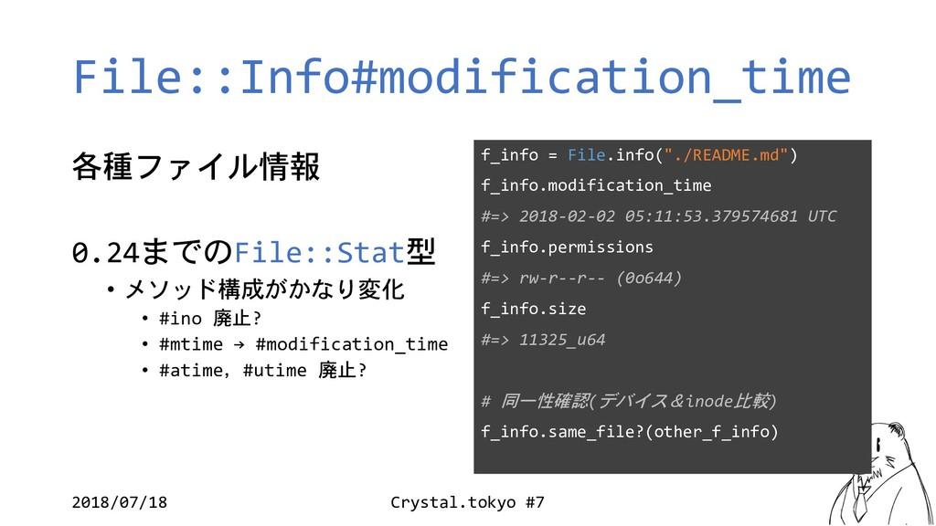 File::Info#modification_time  & 0.24Fi...