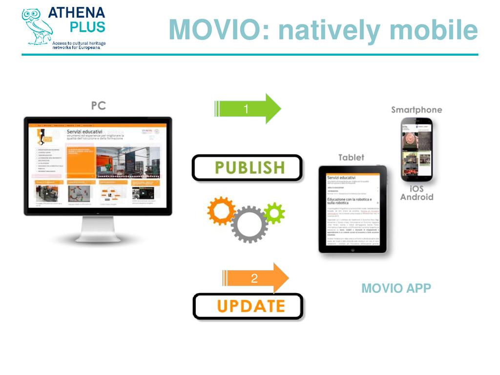 1 2 MOVIO: natively mobile MOVIO APP