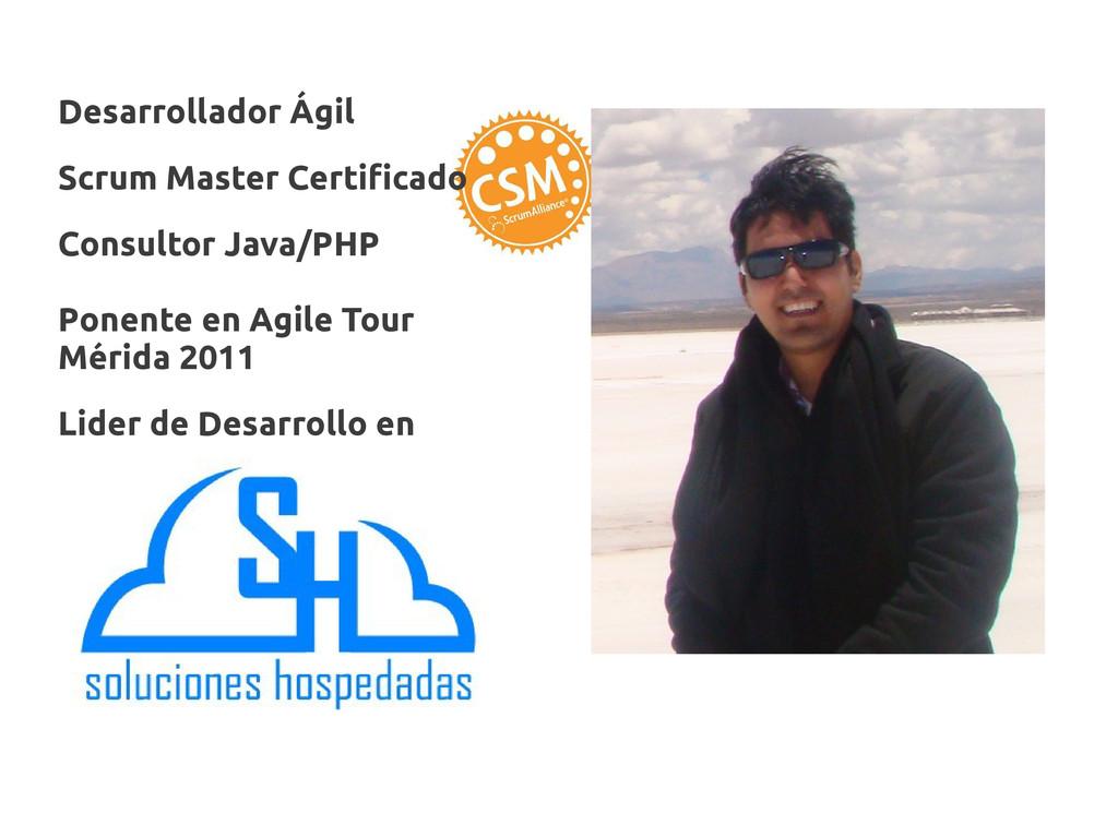 Desarrollador Ágil Scrum Master Certificado Con...