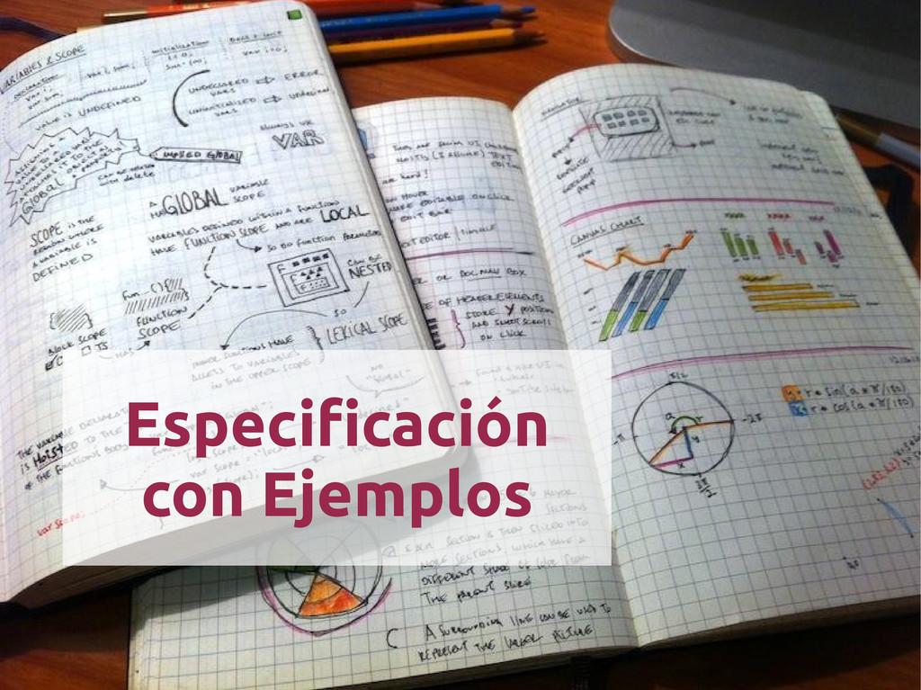 Especificación con Ejemplos