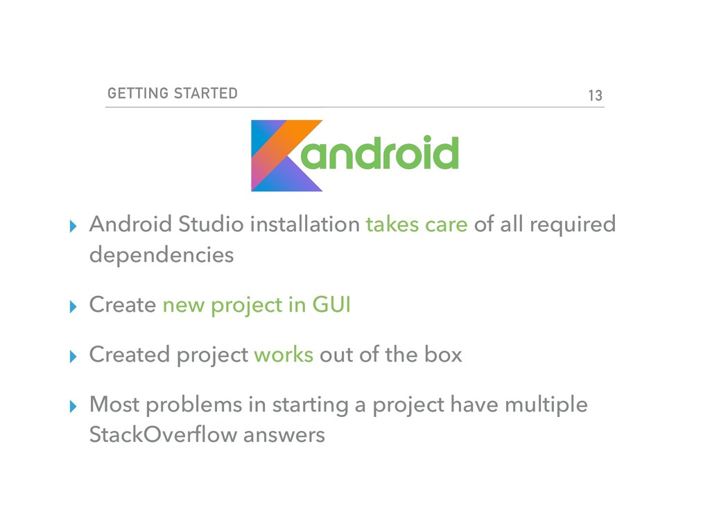 GETTING STARTED ▸ Android Studio installation t...