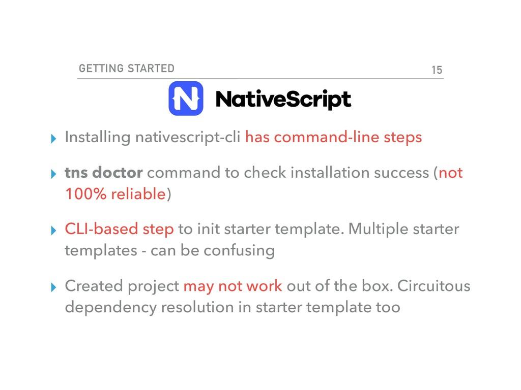 GETTING STARTED ▸ Installing nativescript-cli h...