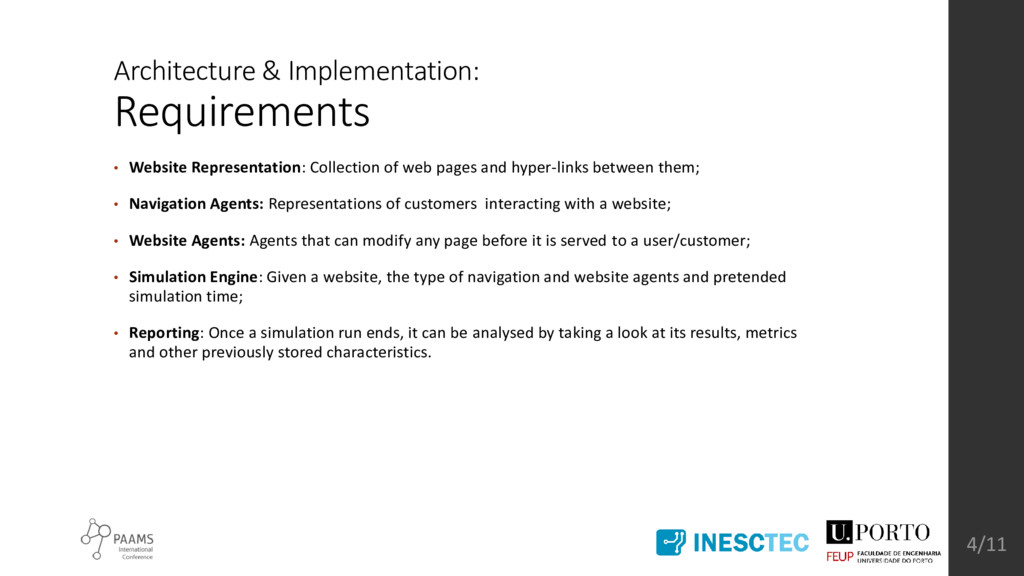 Architecture & Implementation: Requirements • W...