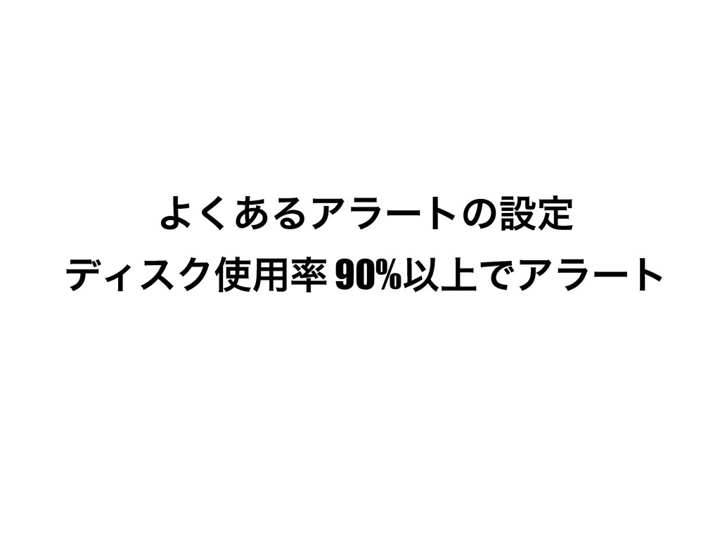 Α͋͘ΔΞϥʔτͷઃఆ σΟεΫ༻ 90%Ҏ্ͰΞϥʔτ
