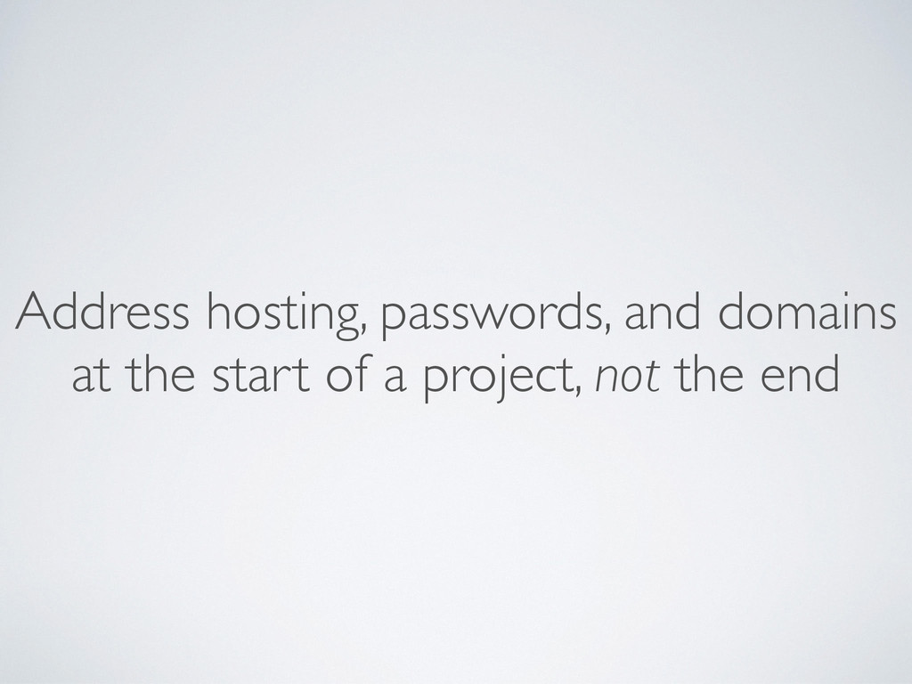 Address hosting, passwords, and domains at the ...