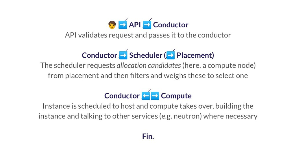 ➡ API ➡ Conductor API validates request and pa...