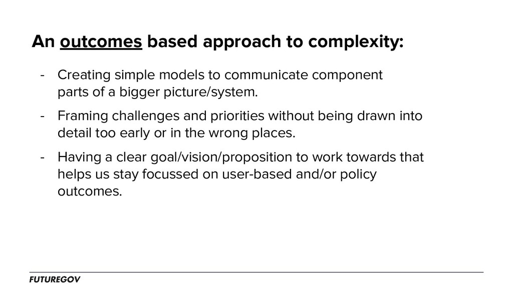 An outcomes based approach to complexity: - Cre...