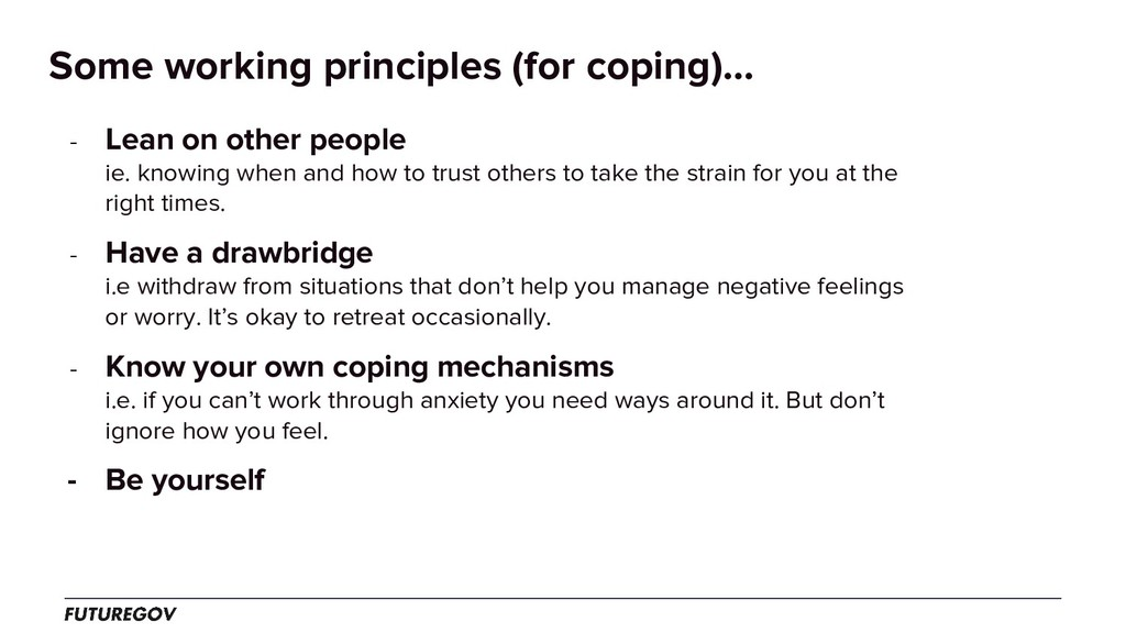 Some working principles (for coping)... - Lean ...