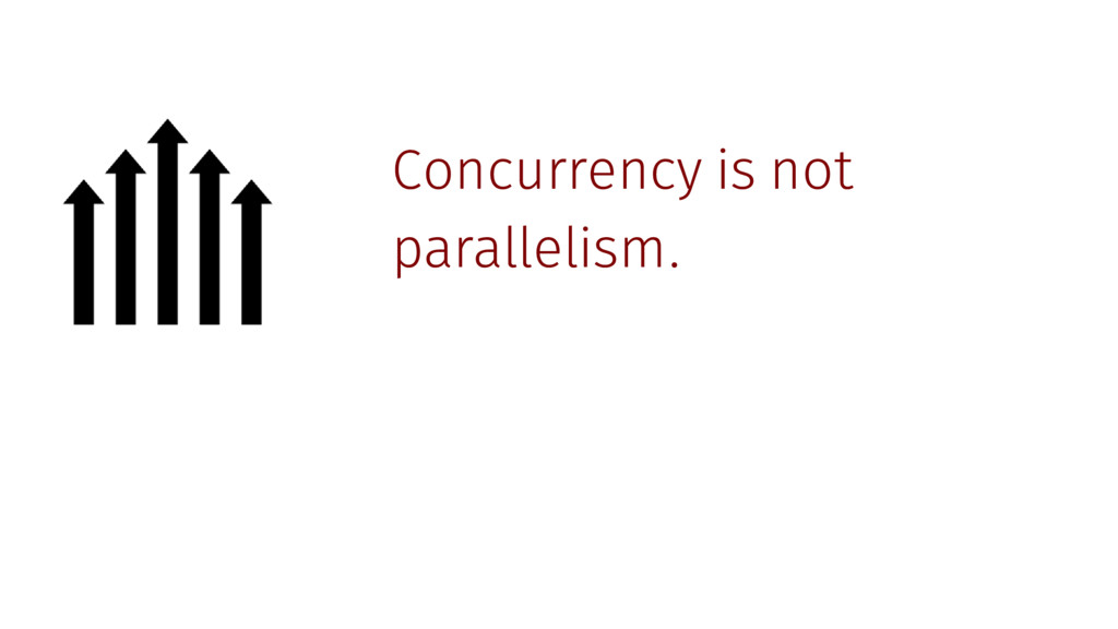 Concurrency is not parallelism.