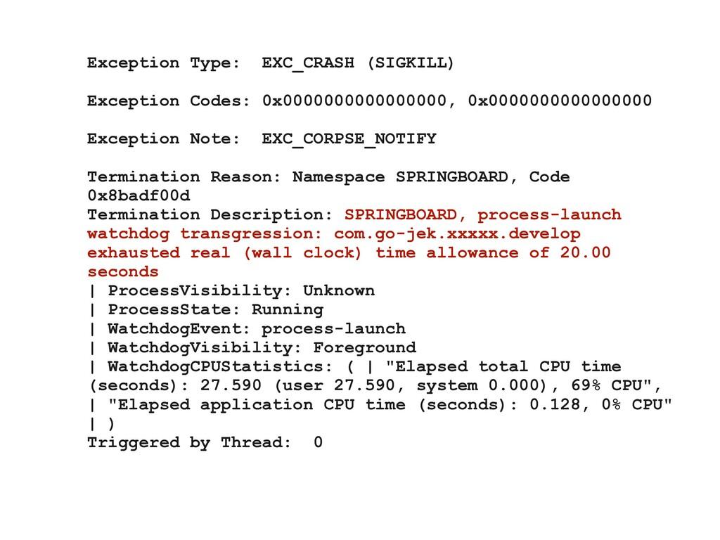Exception Type: EXC_CRASH (SIGKILL) Exception C...