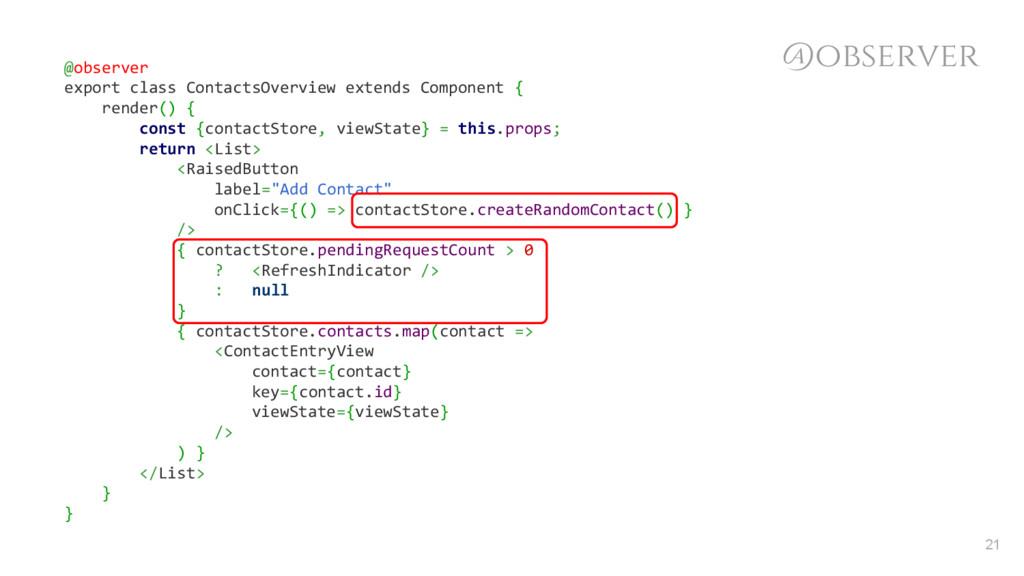 @observer @observer export class ContactsOvervi...