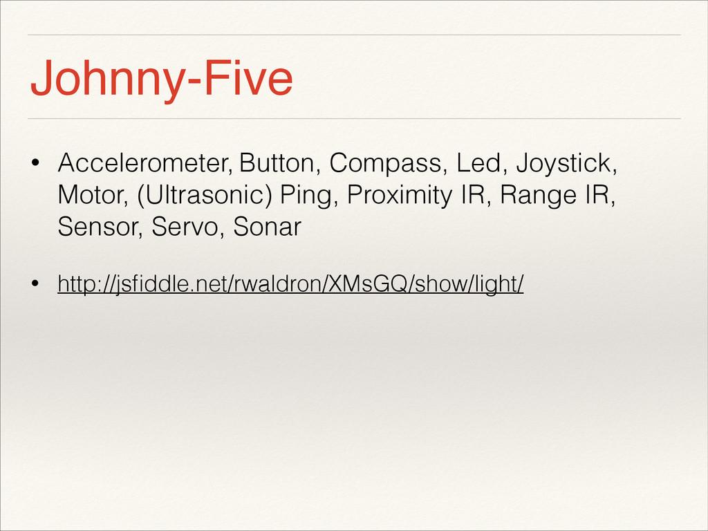 Johnny-Five • Accelerometer, Button, Compass, L...