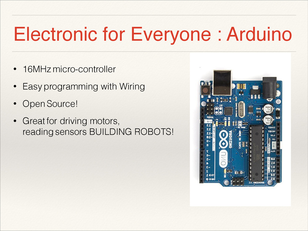 Electronic for Everyone : Arduino • 16MHz micro...