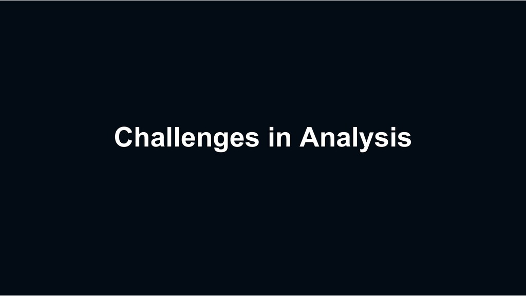 Challenges in Analysis