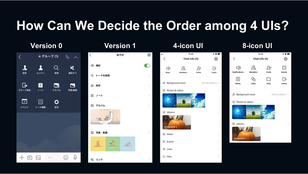 How Can We Decide the Order among 4 UIs? 4-icon...