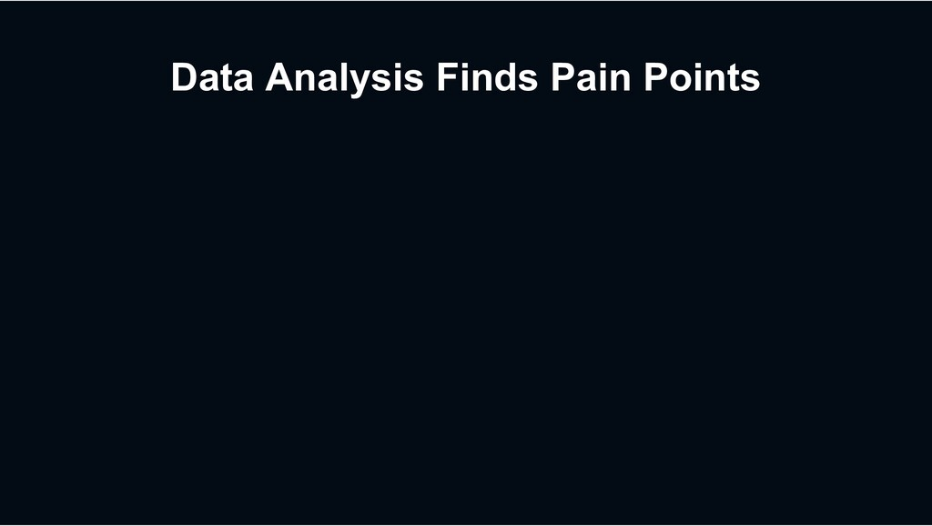 Data Analysis Finds Pain Points