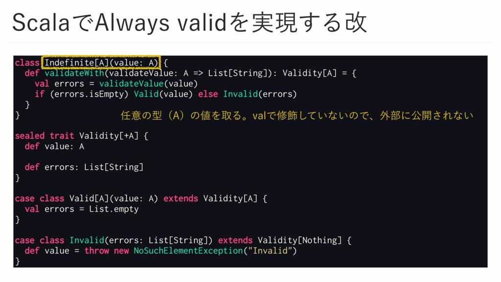 class Indefinite[A](value: A) { def validateWit...