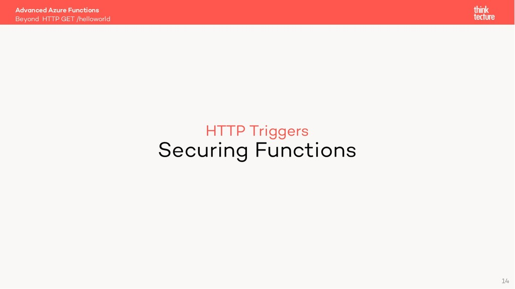 HTTP Triggers Securing Functions Beyond HTTP GE...