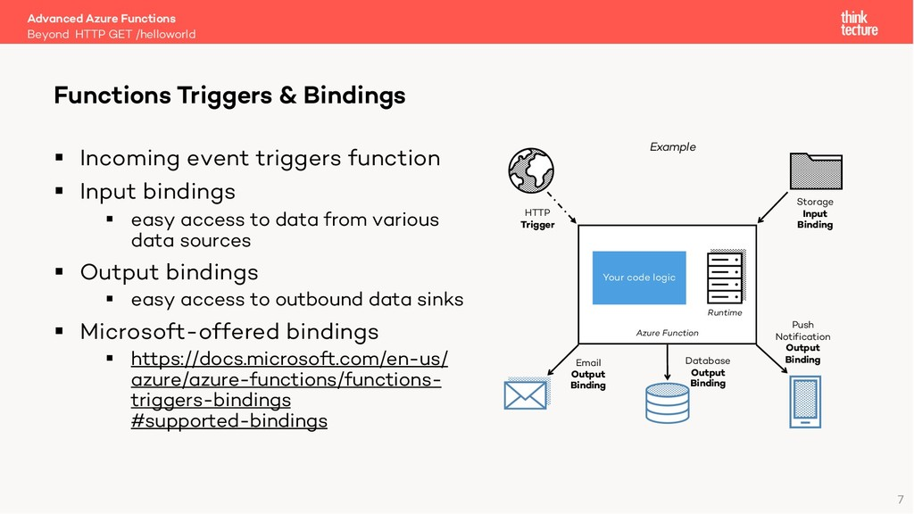 7 § Incoming event triggers function § Input bi...