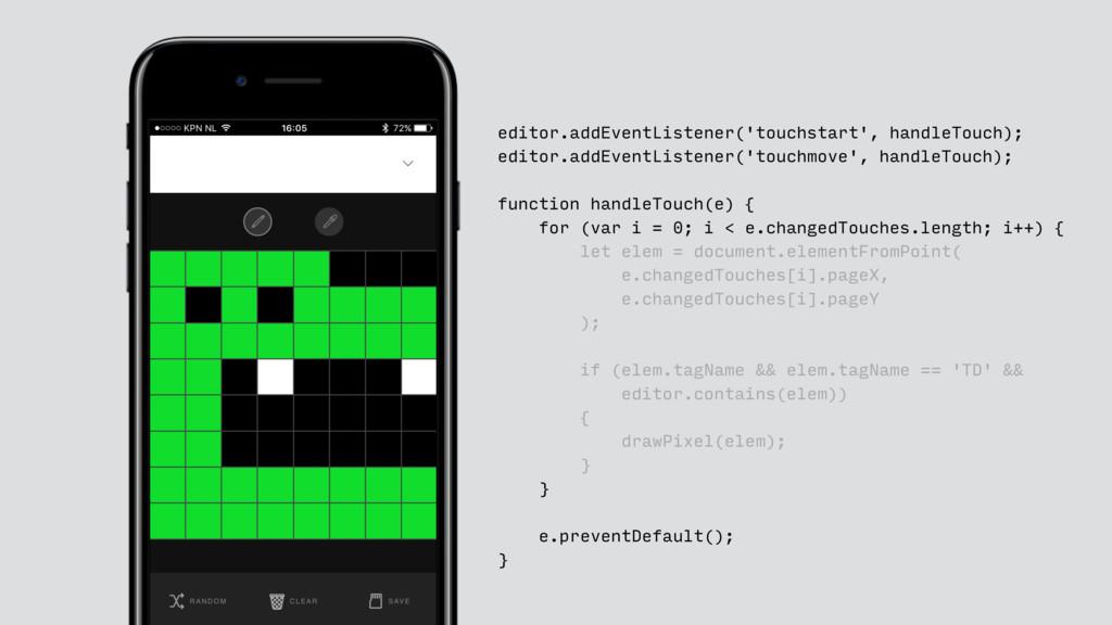 editor.addEventListener('touchstart', handleTou...