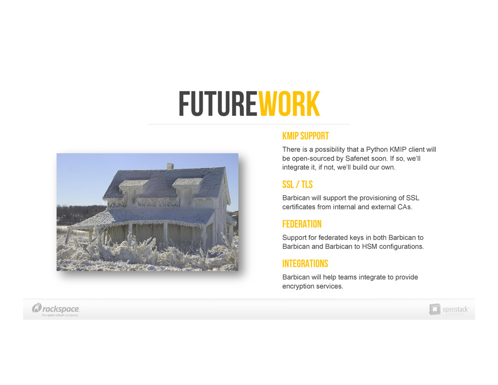 Futurework KMIP Support There is a possibility ...