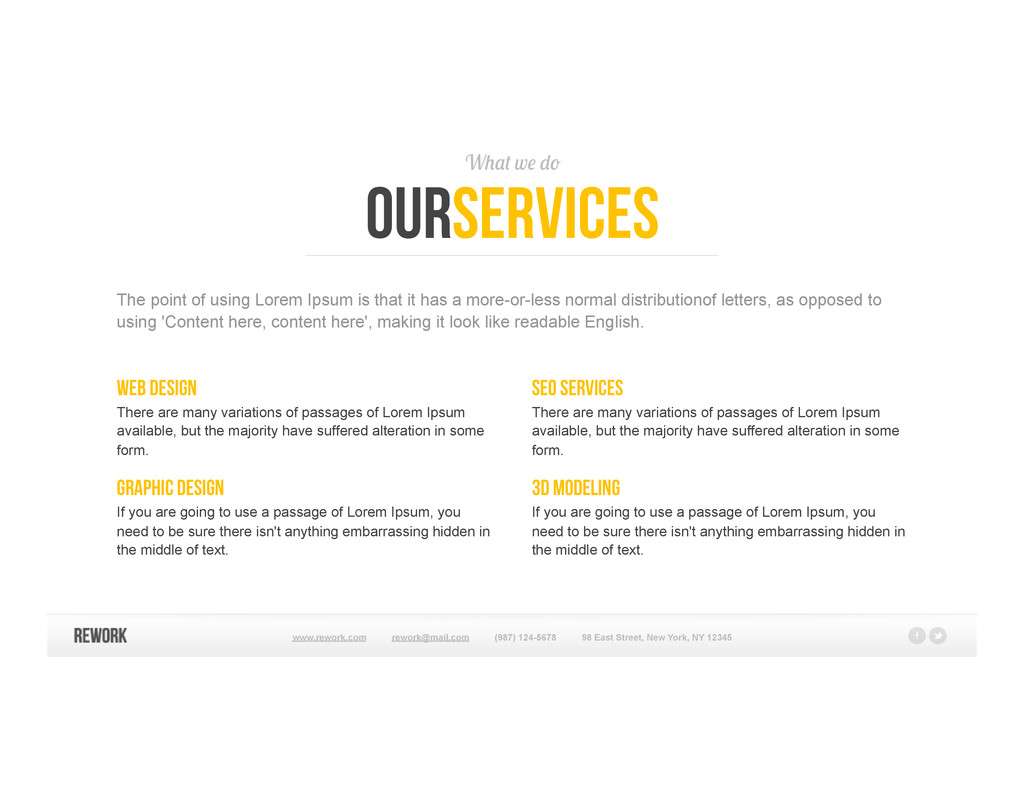 What we do ourservices Web design There are man...