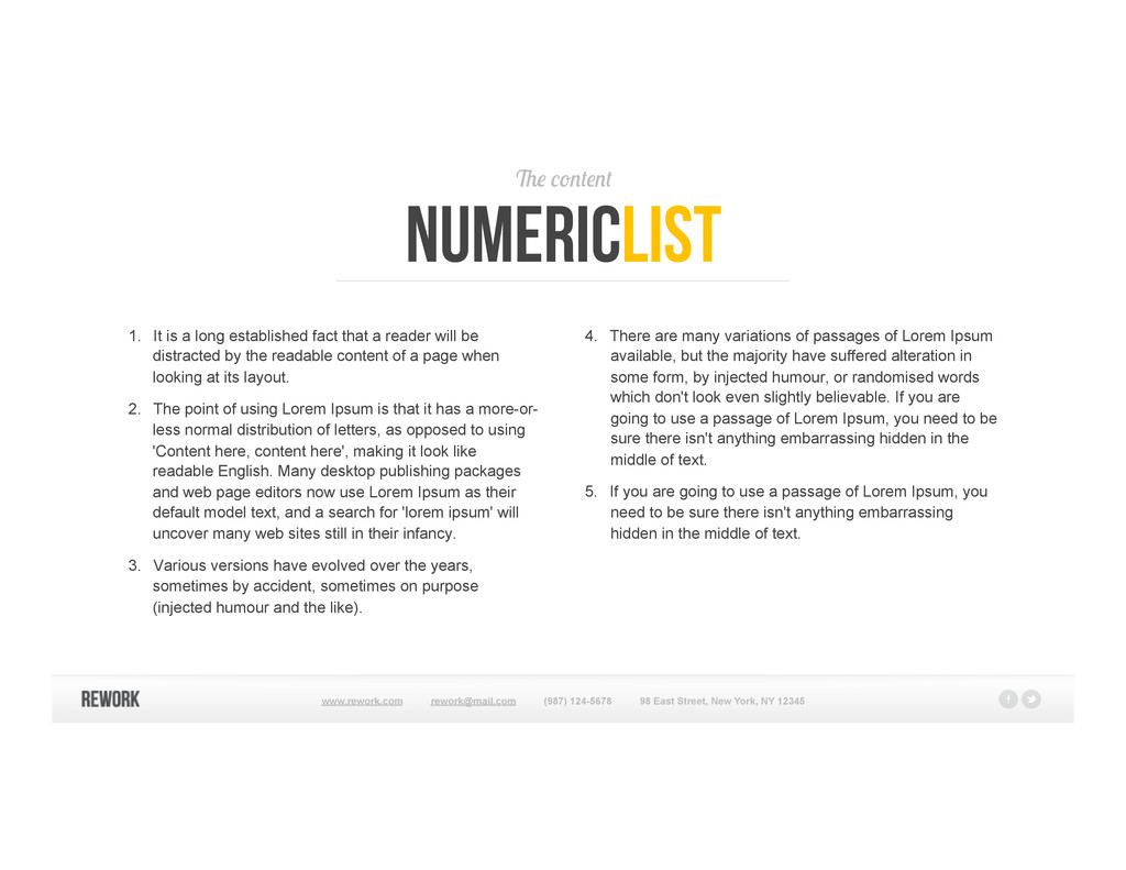 The content numericlist 1. It is a long establ...