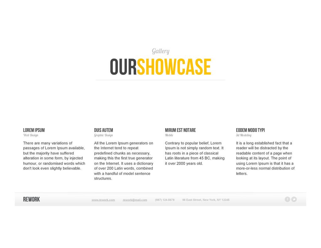 Gallery ourshowcase Lorem Ipsum Web Design Ther...