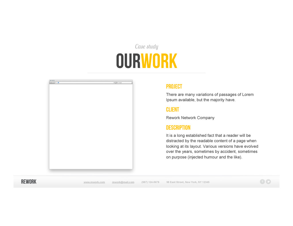 Case study ourwork PROJECT There are many varia...