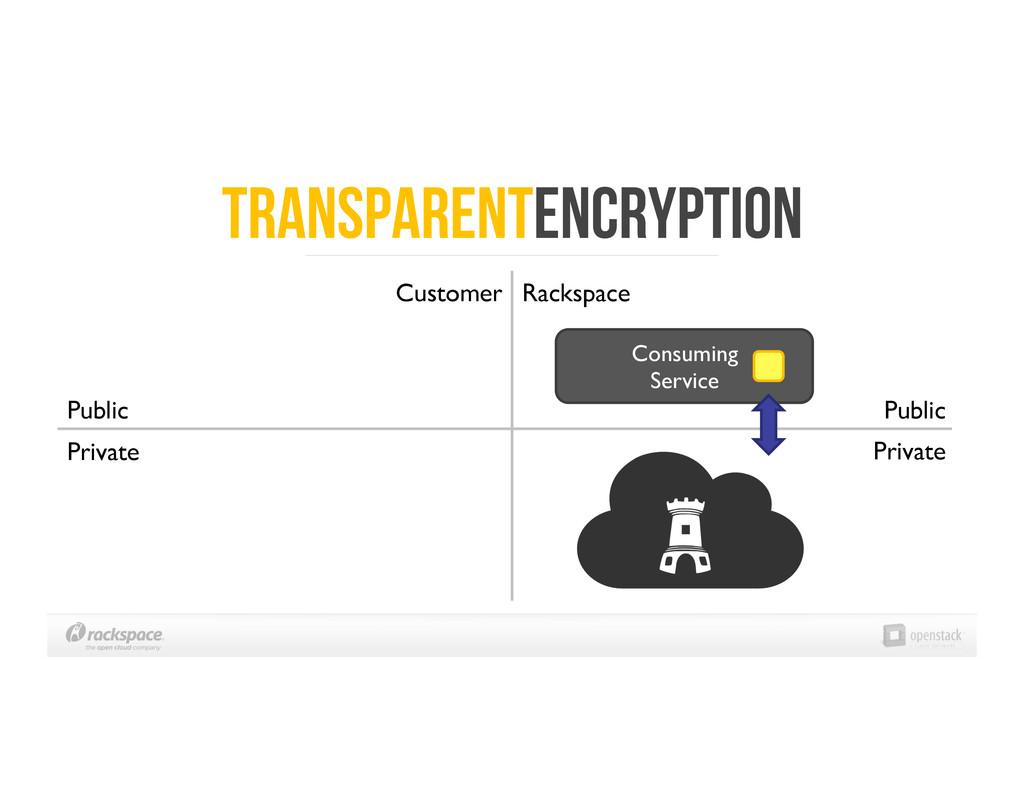 Transparentencryption Public  Private  Cons...