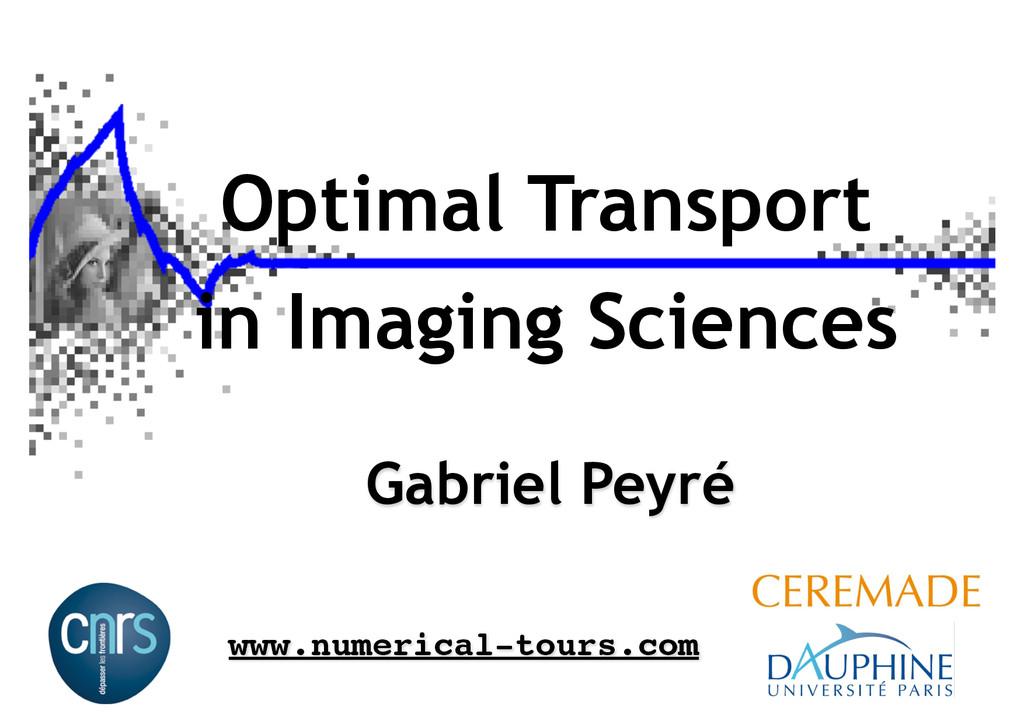 Optimal Transport in Imaging Sciences Gabriel P...