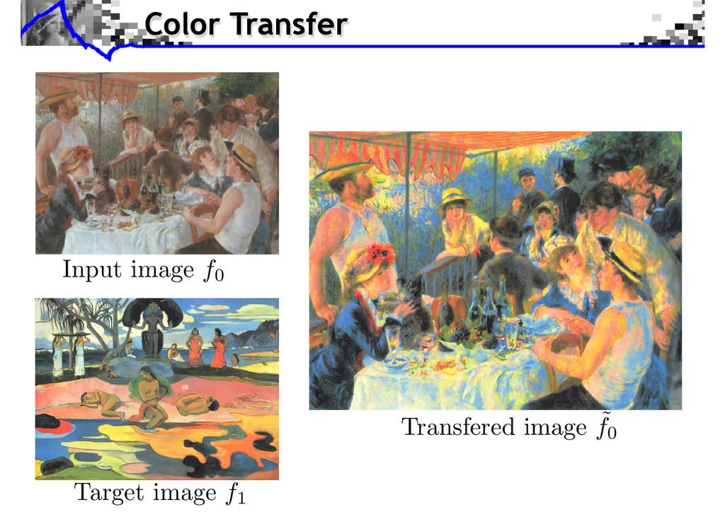 Input image f0 Target image f1 Transfered image...