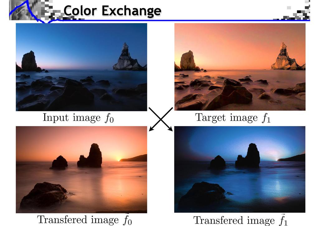 Transfered image ˜ f1 Color Exchange Source ima...